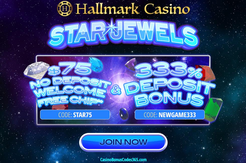 Hallmark Casino $75 FREE Chip 333% Match Combo