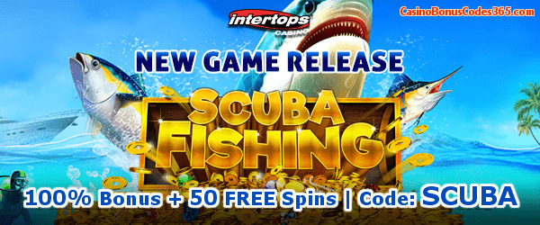 Intertops Casino Red New Game RTG Scuba Fishing