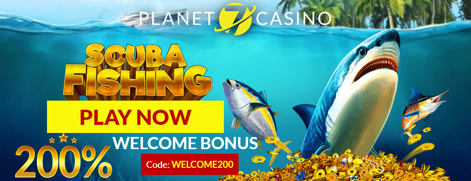Planet 7 Casino New RTG Game Scuba Fishing 200% Match Bonus