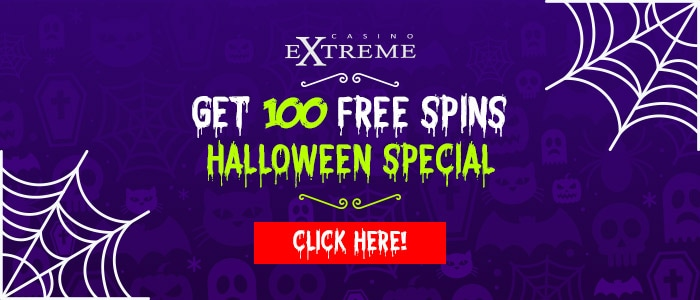 Casino Extreme 100 Halloween RTG Bubble Bubble 2 FREE Spins Offer