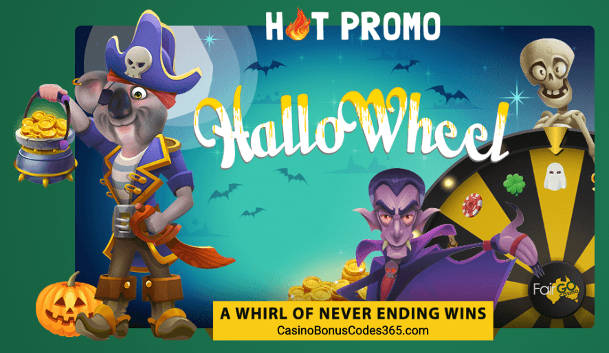 Fair Go Casino HalloWheel Hot Promo