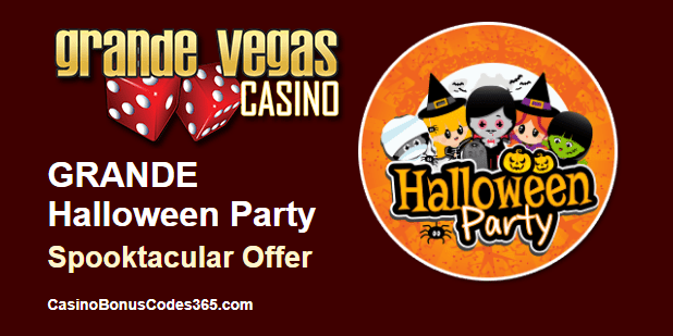 Grande Vegas Casino Halloween Party Special Promo