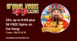 Grande Vegas Casino 25% up to $100 plus 50 FREE Sweet 16 RTG Spins Special Promo