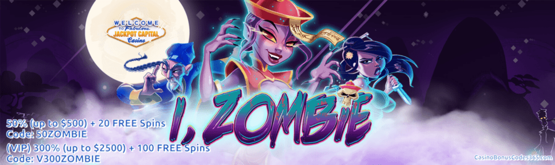 Jackpot Capital New RTG Game i Zombie 100% Bonus and 40 FREE Spins