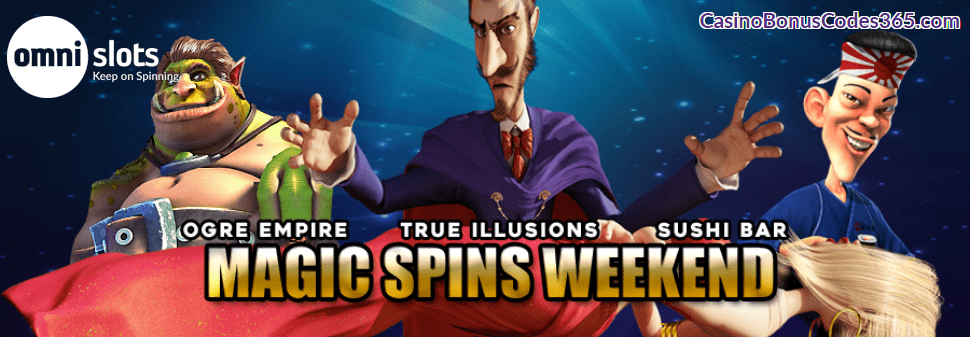 Omni Slots Magic Spins Weekend Bonus