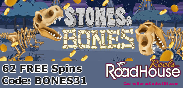 Roadhouse Reels 62 FREE Spins on Saucify Stones and Bones