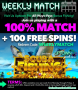 Uptown Aces Weekly Match All Ways Pays Bonus RTG Scuba Fishing
