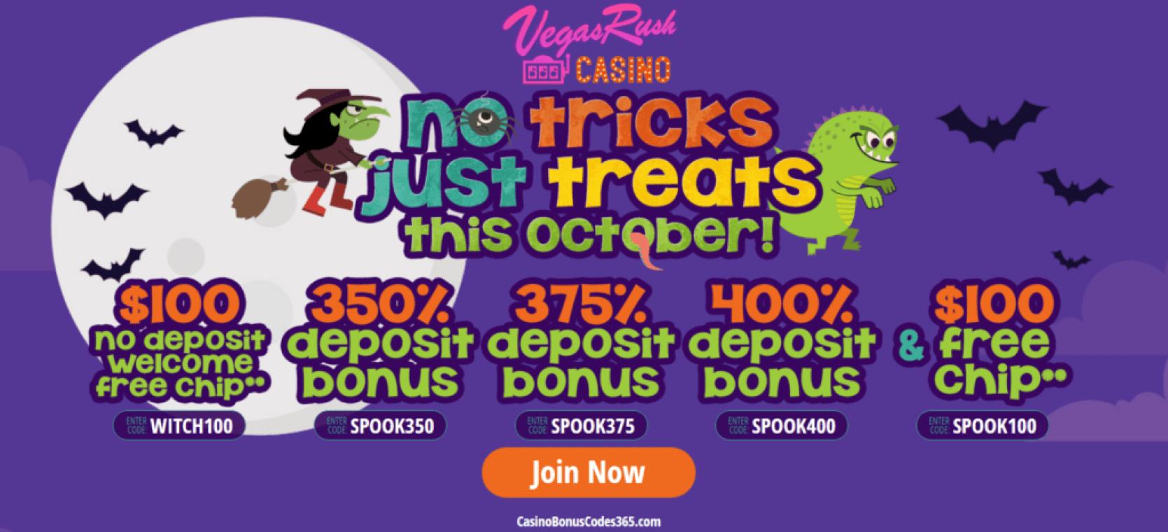 no deposit bonus vegas rush casino