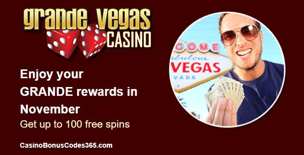 Grande Vegas Casino November Promo