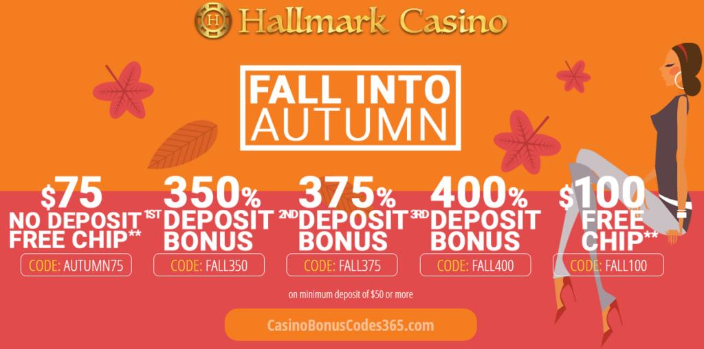 Hallmark Casino Fall Into Autumn Promotion Casino Bonus Codes 365