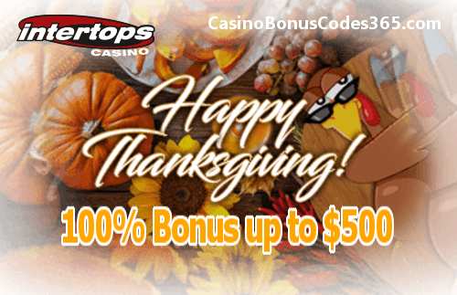 Intertops Casino Red Happy Thanksgiving Bonuses