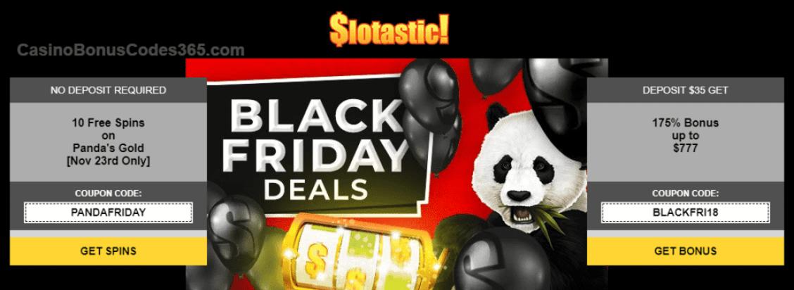 Slotastic Online Casino Black Friday Deals
