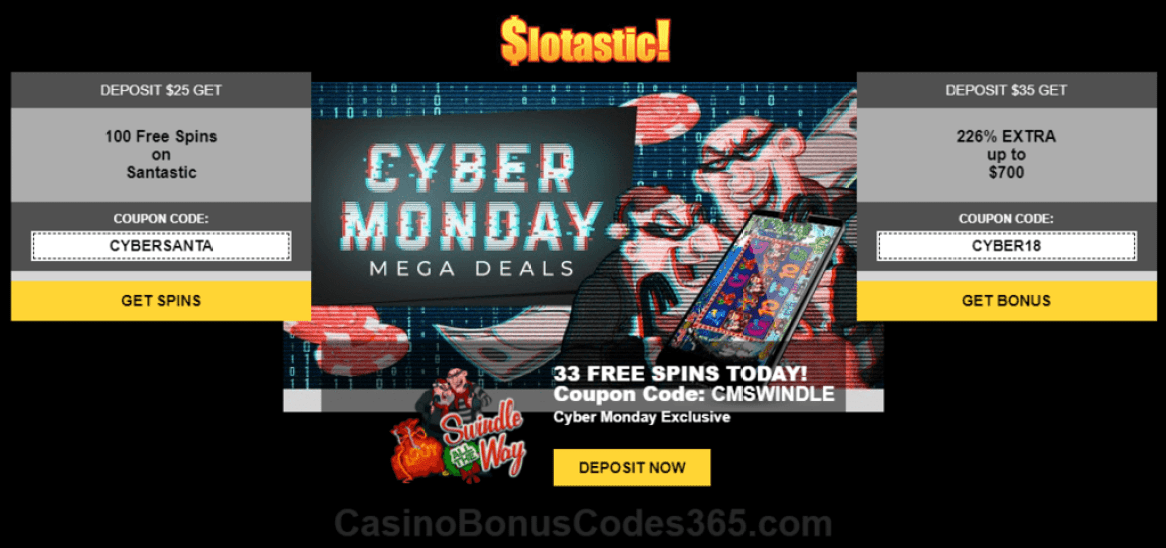 Slotastic Online Casino Cyber Monday Offers