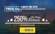 True Blue Casino 250% No Max Bonus Limited Time Offer