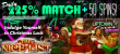 Uptown Aces The Nice List Christmas Luck 225% Daily Match plus 50 FREE Spins