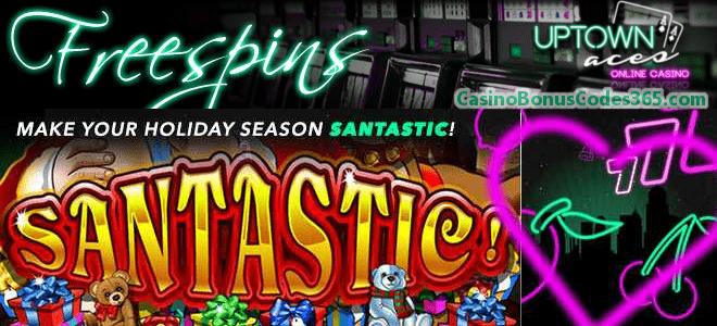 Uptown Aces Santastic Holiday Season 100 FREE Spins