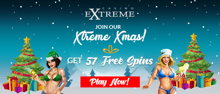 Casino Extreme 57 FREE Spins on RTG Naughty or Nice III Xmas Offer