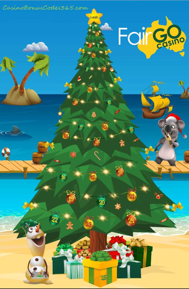 Fair Go Casino Daily Prizes on Christmas Tree