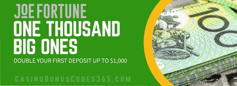 Joe Fortune Double Your Money First Deposit Bonus