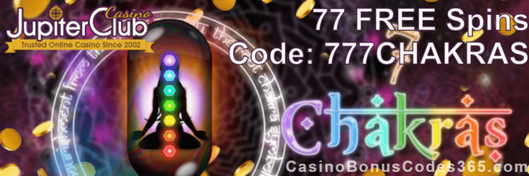 Jupiter Club Casino 77 FREE Saucify 7 Chakras Spins