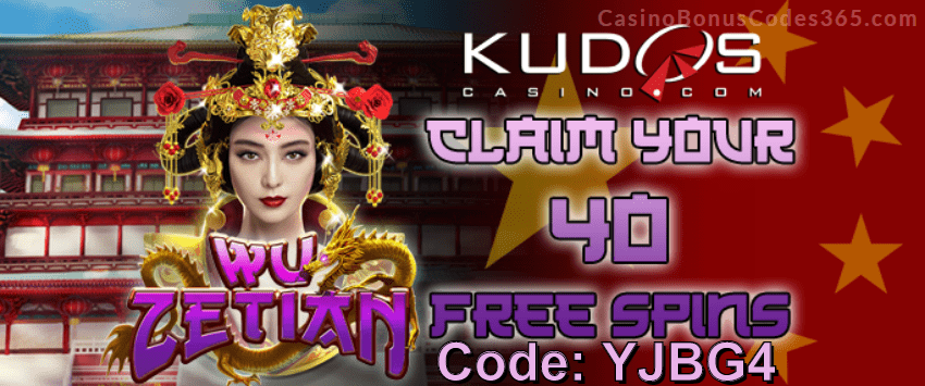 Kudos Casino New RTG Game 40 FREE Wu Zetian Spins