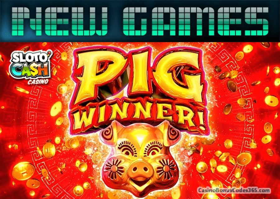 SlotoCash Casino Pig Winner New RTG Game 111% Bonus plus 111 FREE Spins