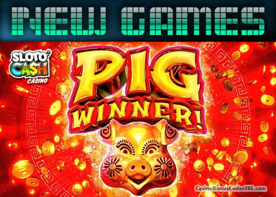 SlotoCash Casino Pig Winner New RTG Game 111% Bonus plus 111 FREE Spins
