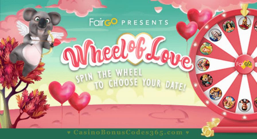 Fair Go Casino Wheel of Love Prizes