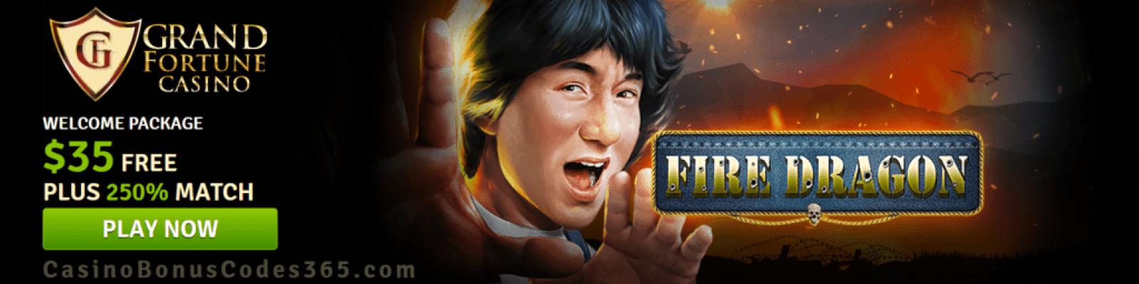 Grand Fortune Casino New RTG Game Fire Dragon