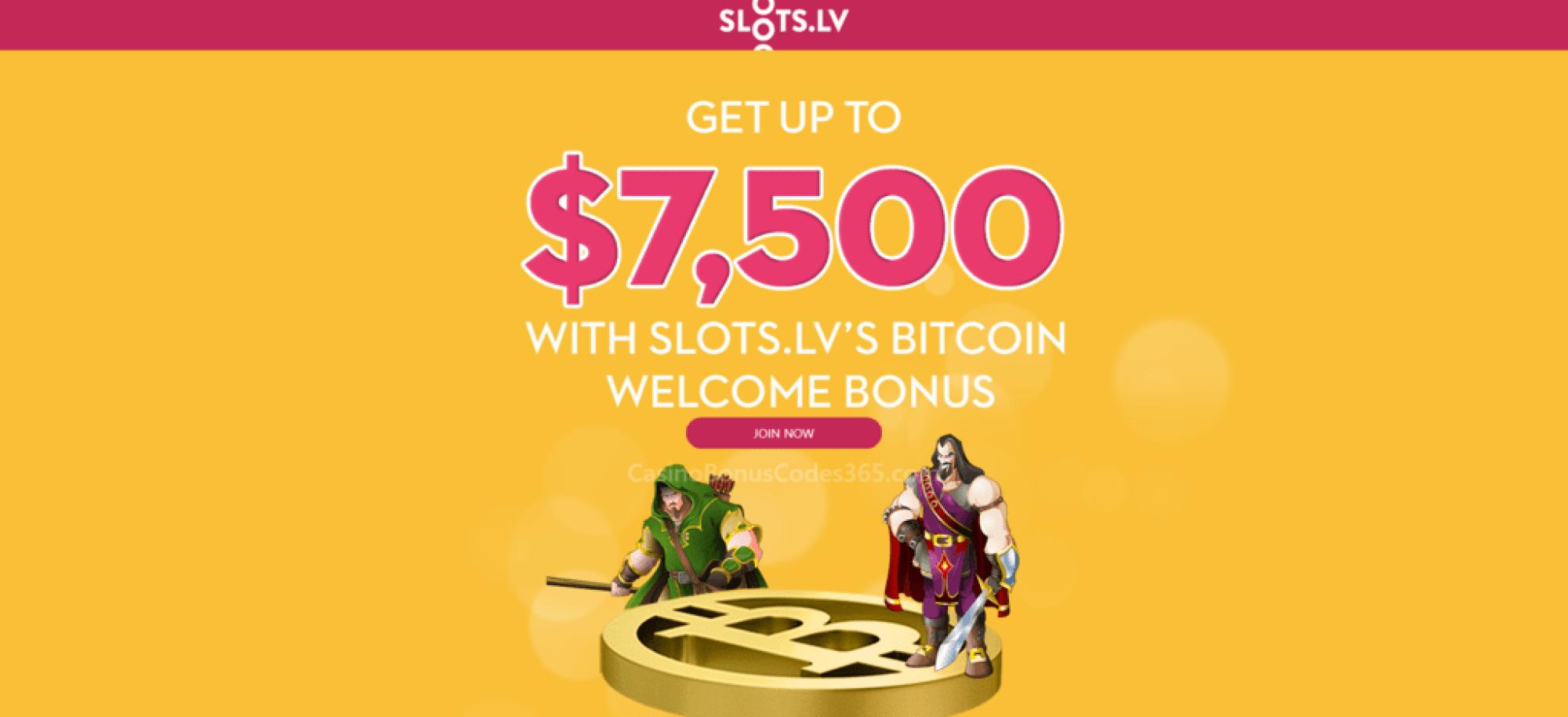 Slots LV $7500 Bitcoin Welcome Bonus
