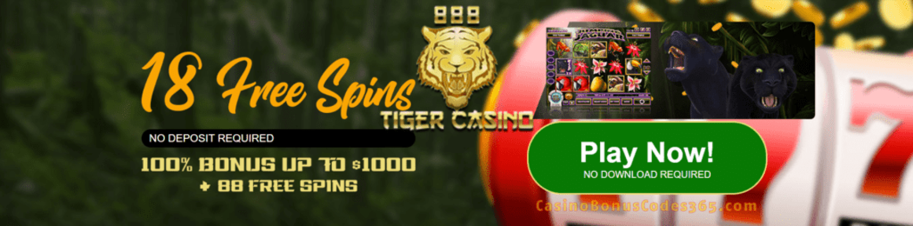 888 Tiger Casino 18 No Deposit FREE Spins Rival Gaming Jumping Jaguar