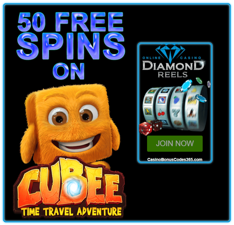 Diamond Reels Casino Exclusive 40 FREE Cubee Spins