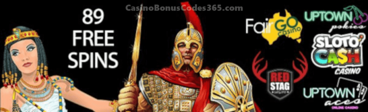 SlotoCash Casino, Uptown Aces, Uptown Pokies, Fair Go Casino and Red Stag Casino 123 FREE Spins RTG Cash Grab Achilles Cleopatras Gold The Three Stooges® Brideless Groom