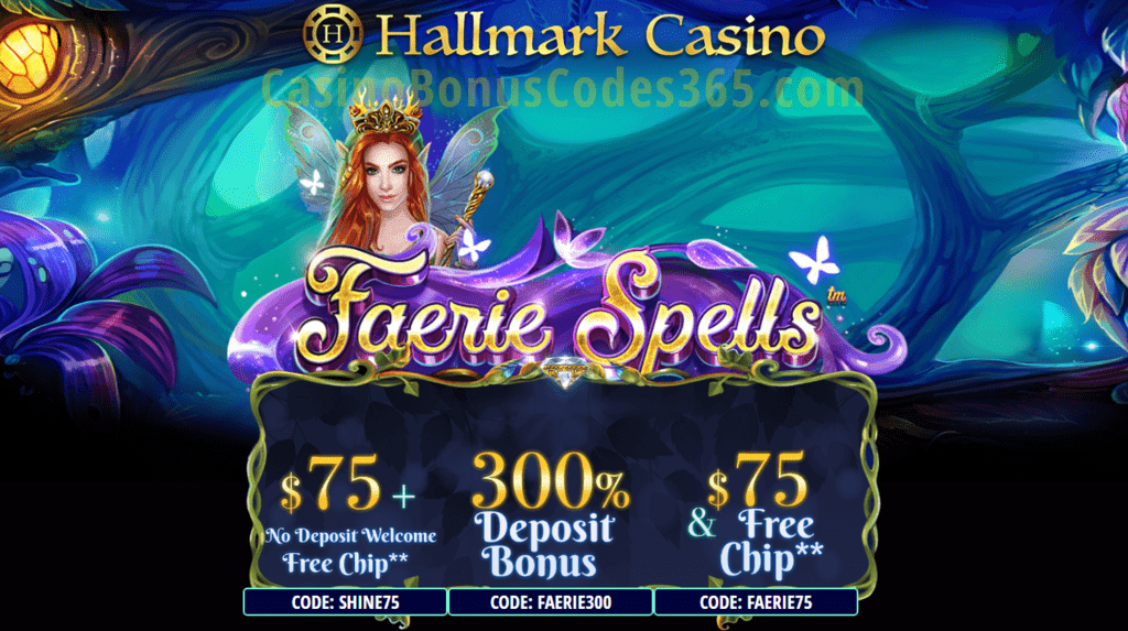Hallmark Casino Faerie Spells New Game Special Offer Casino