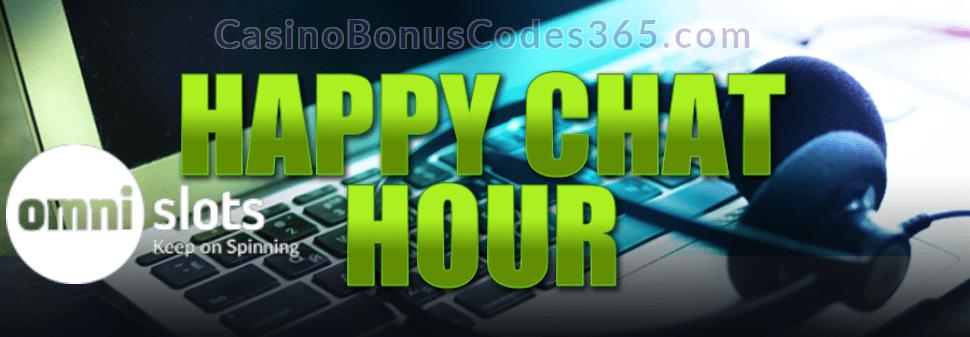 Omni Slots Happy Chat Hour Wednesday Bonus