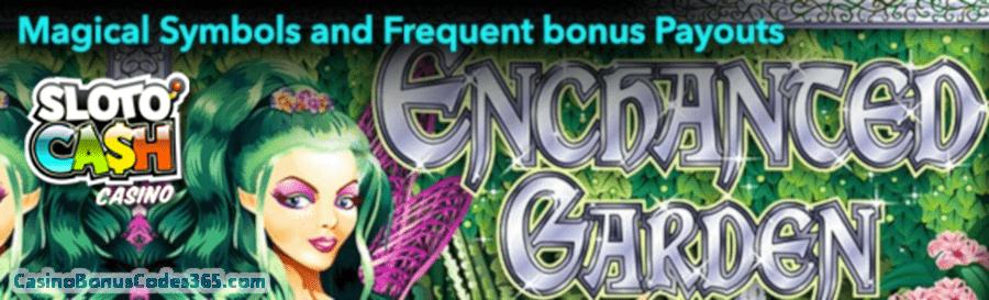 SlotoCash Casino RTG Enchanted Garden 100 FREE Spins