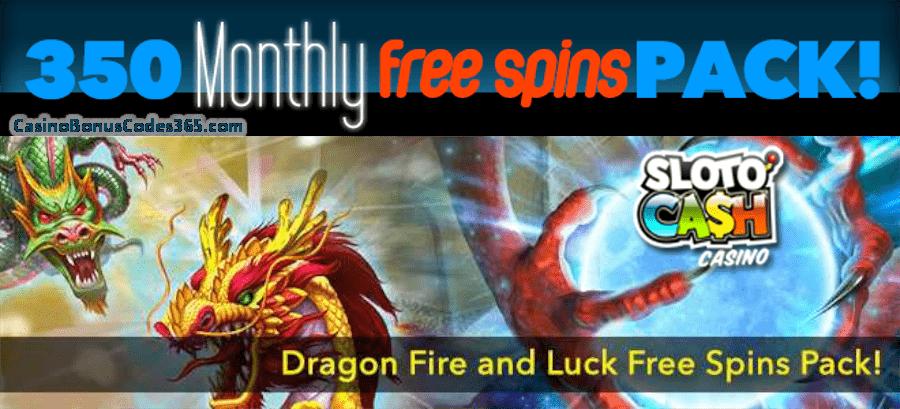 SlotoCash Casino Dragon Fire Gods FREE Spins Pack RTG Dragon Orb Fire Dragon Ancient Gods