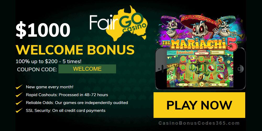 Fair Go Casino RTG The Mariachi 5 100% Welcome Bonus