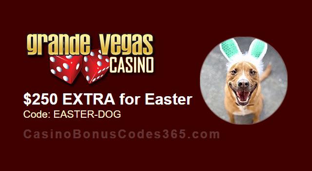 Grande Vegas Casino Easter $250 Extra Chip