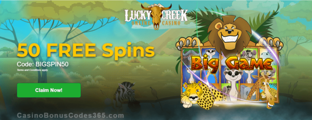 Lucky Creek 50 FREE Saucify Big Game Spins Exclusive Promo