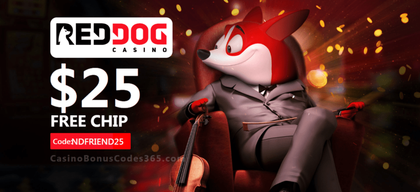 Red Dog Casino Exclusive $25 FREE Chip