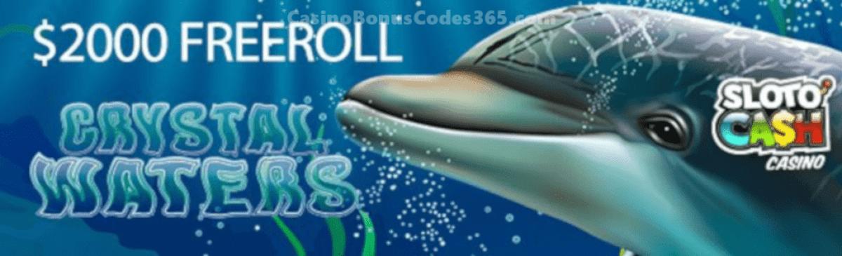 Slotocash Casino $2000 FREEroll RTG Crystal Waters