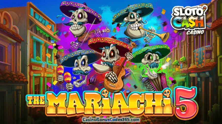 SlotoCash Casino The Mariachi 5 New RTG Game Promo 111% Bonus plus 111 FREE Spins