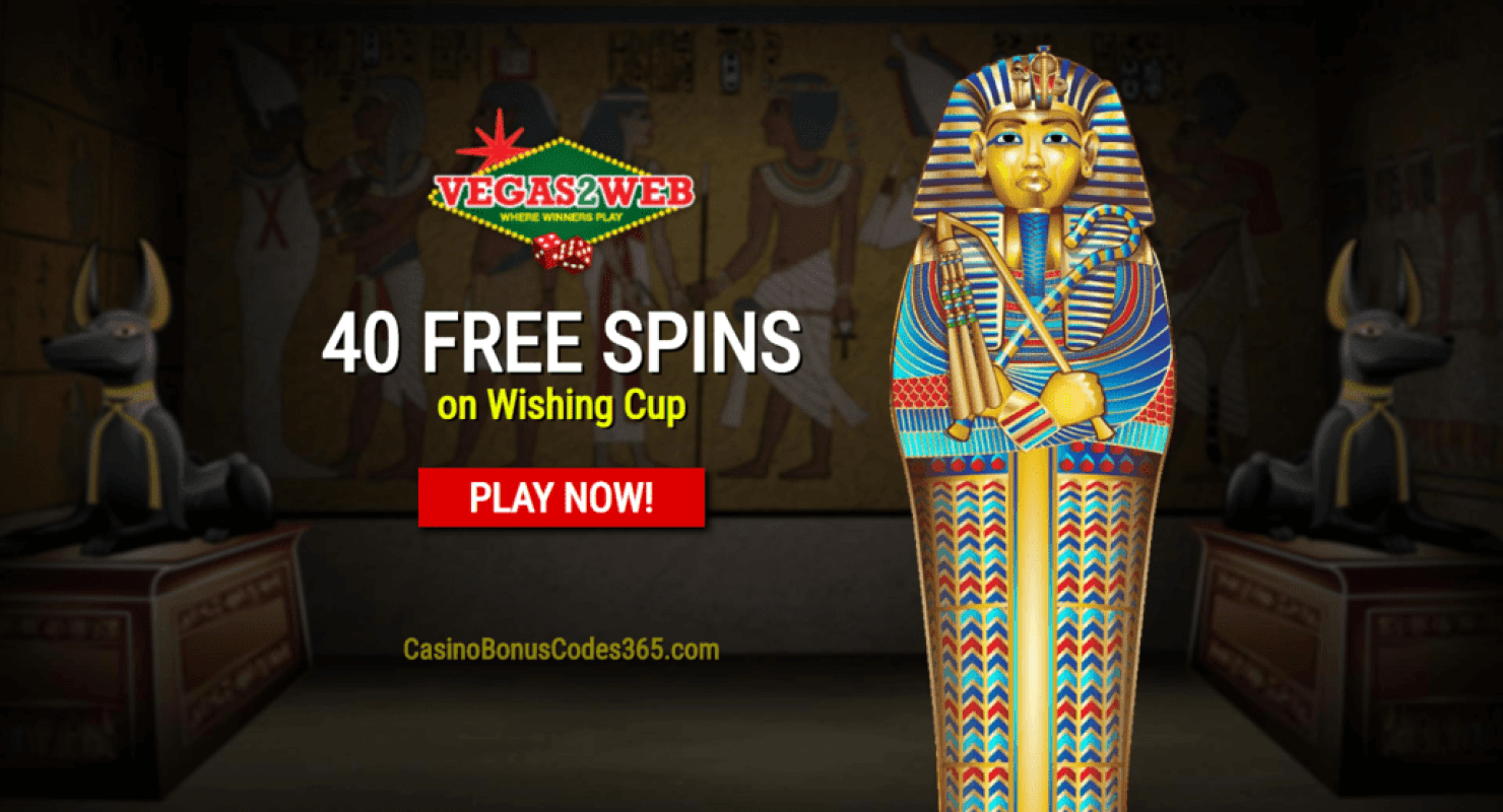 Vegas2Web Casino Exclusive 40 FREE Rival Gaming Wishing Cup Spins
