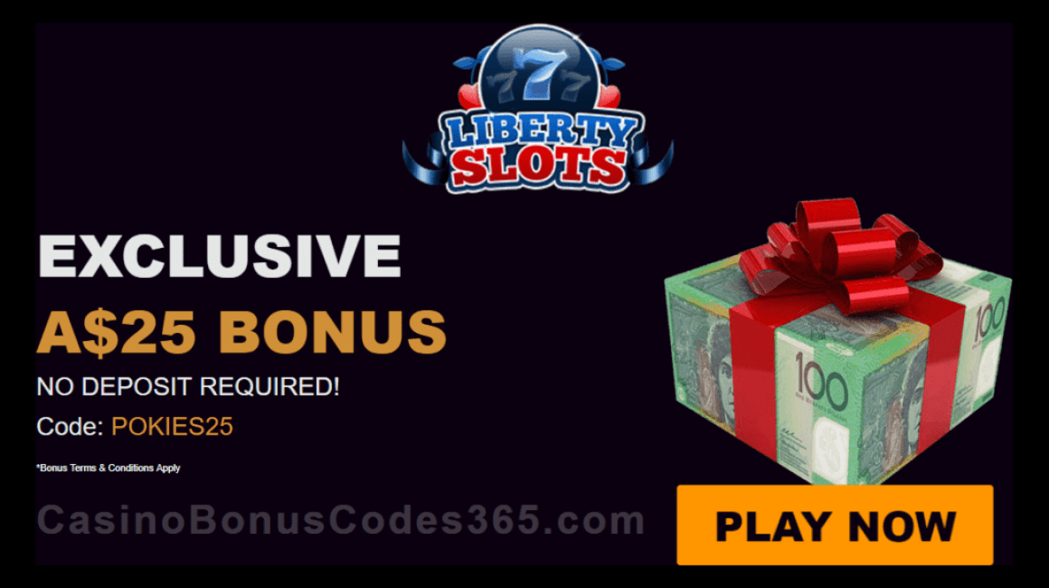 Liberty Slots $25 FREE Chip Welcome Bonus for Australian Players
