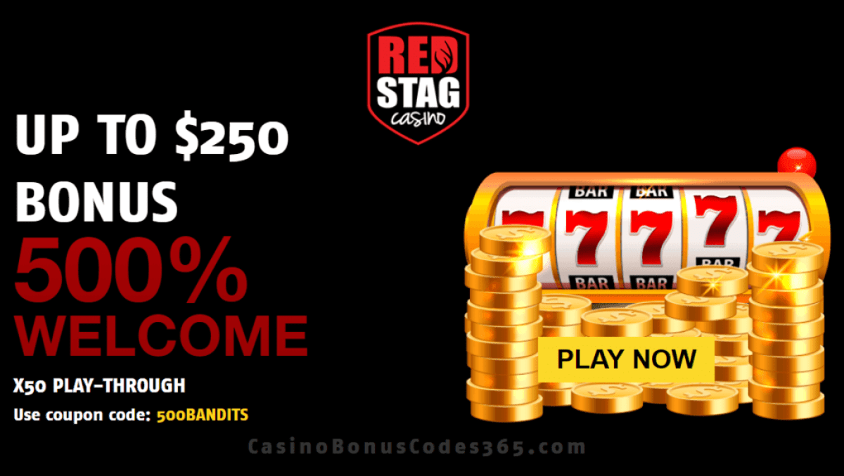 Red Stag Casino 500% Welcome Bonus