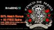 Roaring 21 Cinco de Mayo Special Offer 80% Match Bonus plus 50 FREE Spins RTG Lucha Libre 2 Popinata