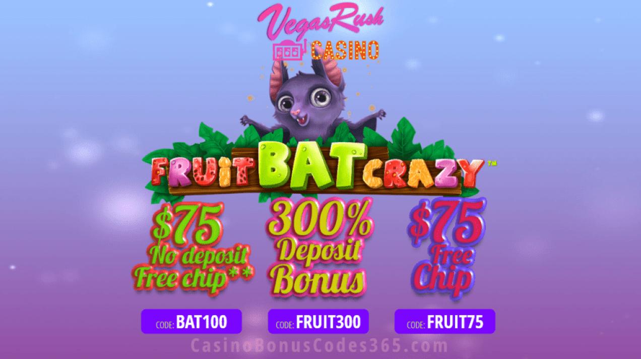 Vegas Rush Casino Fruit Bat Crazy Special Promo