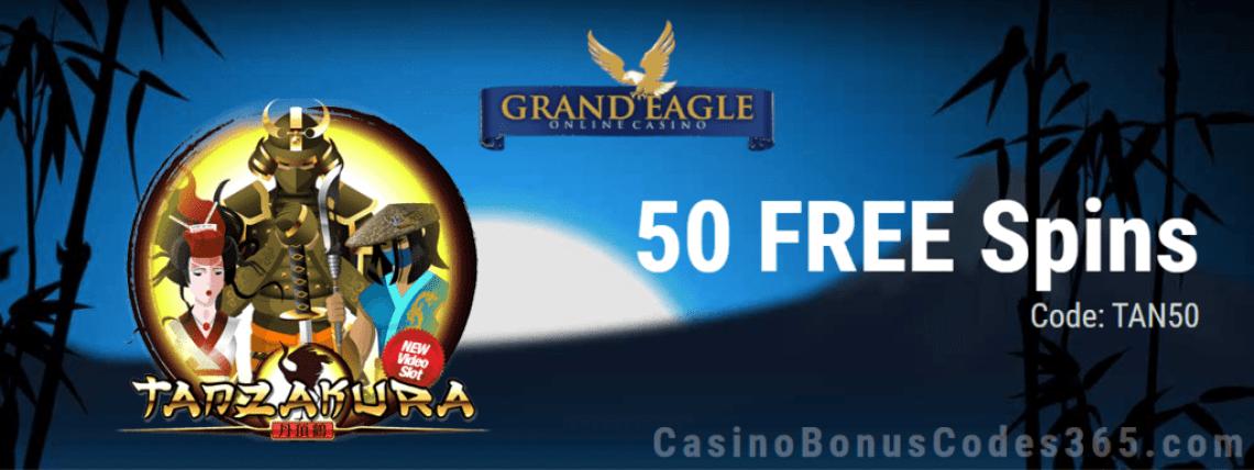 Grand Eagle Casino Saucify Tanzakura 50 No Deposit FREE Spins Special Promo