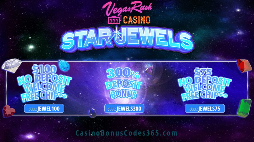 Vegas Rush Casino Star Jewels Special Promo   Casino Bonus